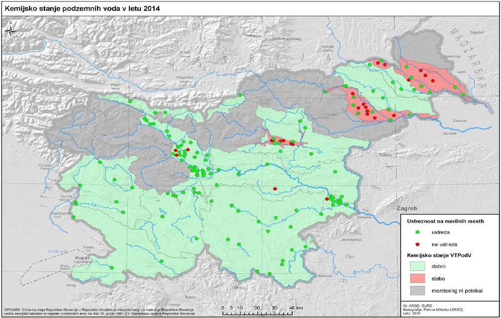 Kemijsko stanje podzemnih vod v letu 2014